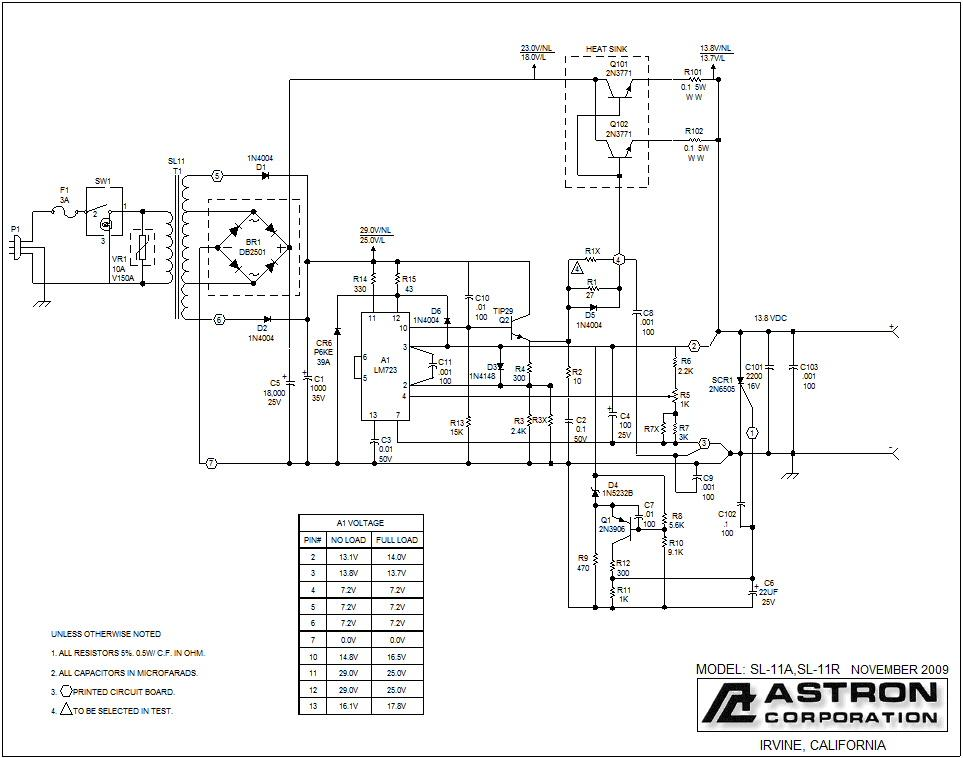 astron power supply schematic high voltage power supply