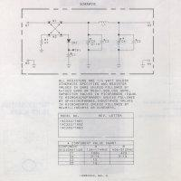 """an overview of the ge impedance matching unit, called the """"z-matcher"""", Wiring schematic"""