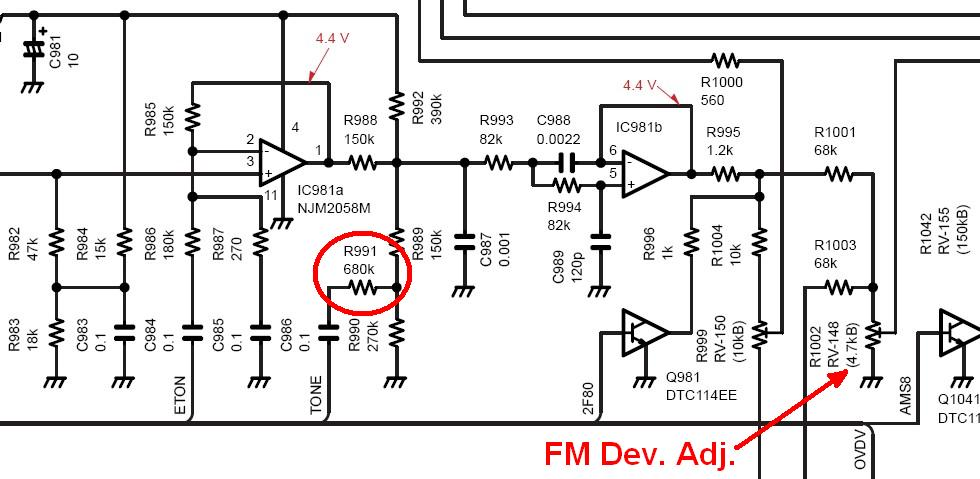 increasing the ctcss level of the icom ic