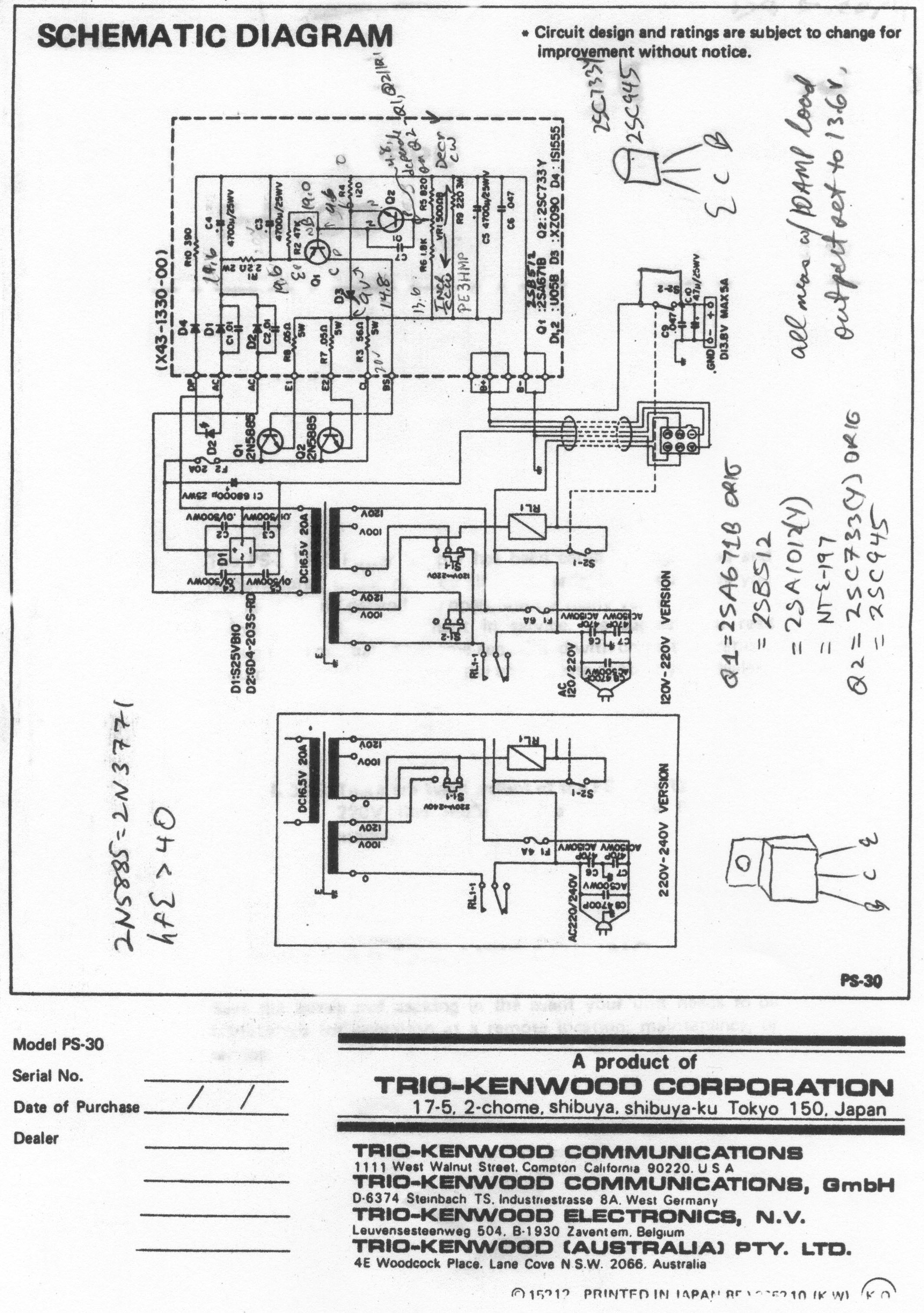 PS-30 Schematic (with repair notes) ...