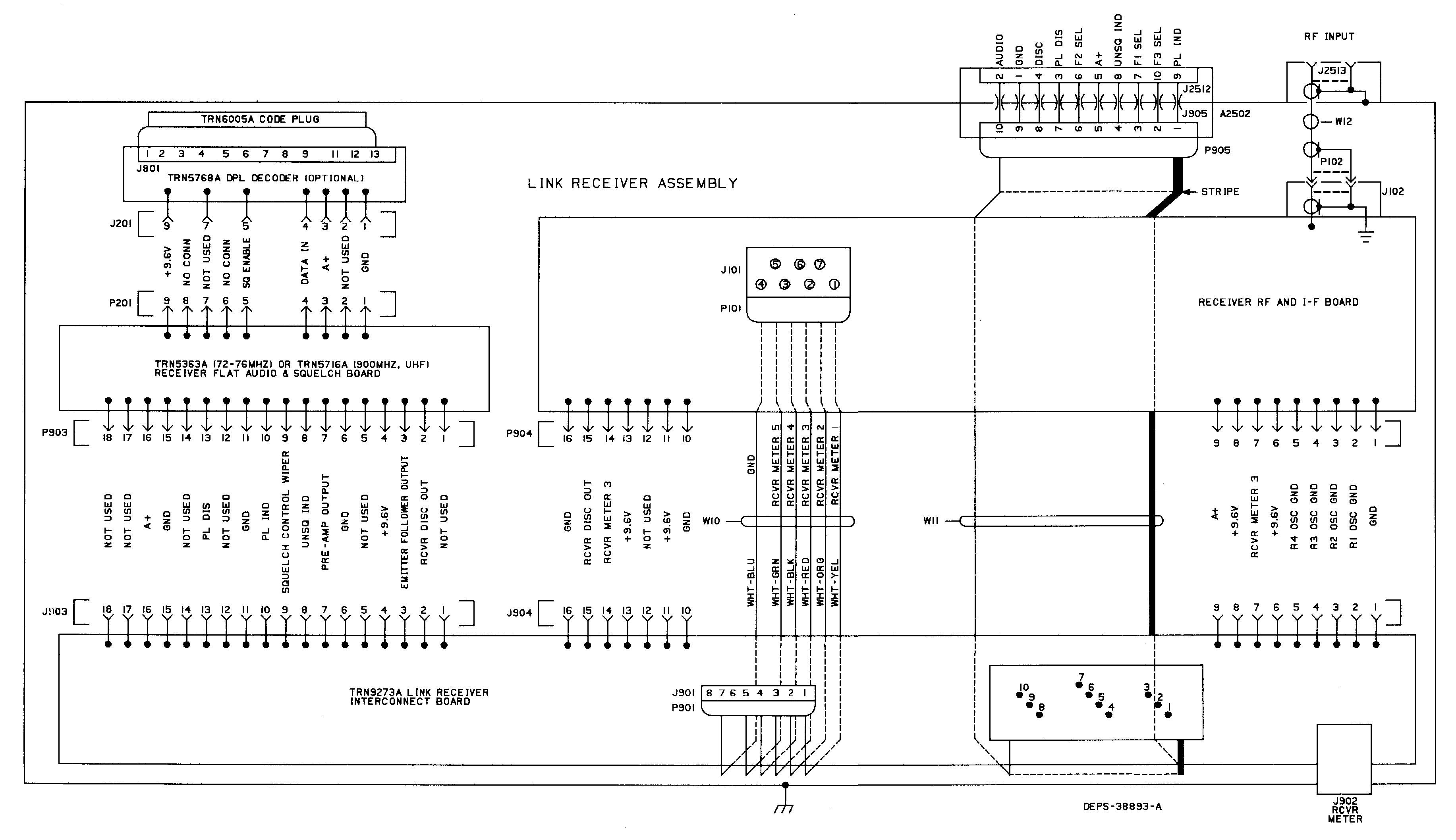 wiring diagram interfacing the purc5000 link receiver interconnection wiring diagram at webbmarketing.co