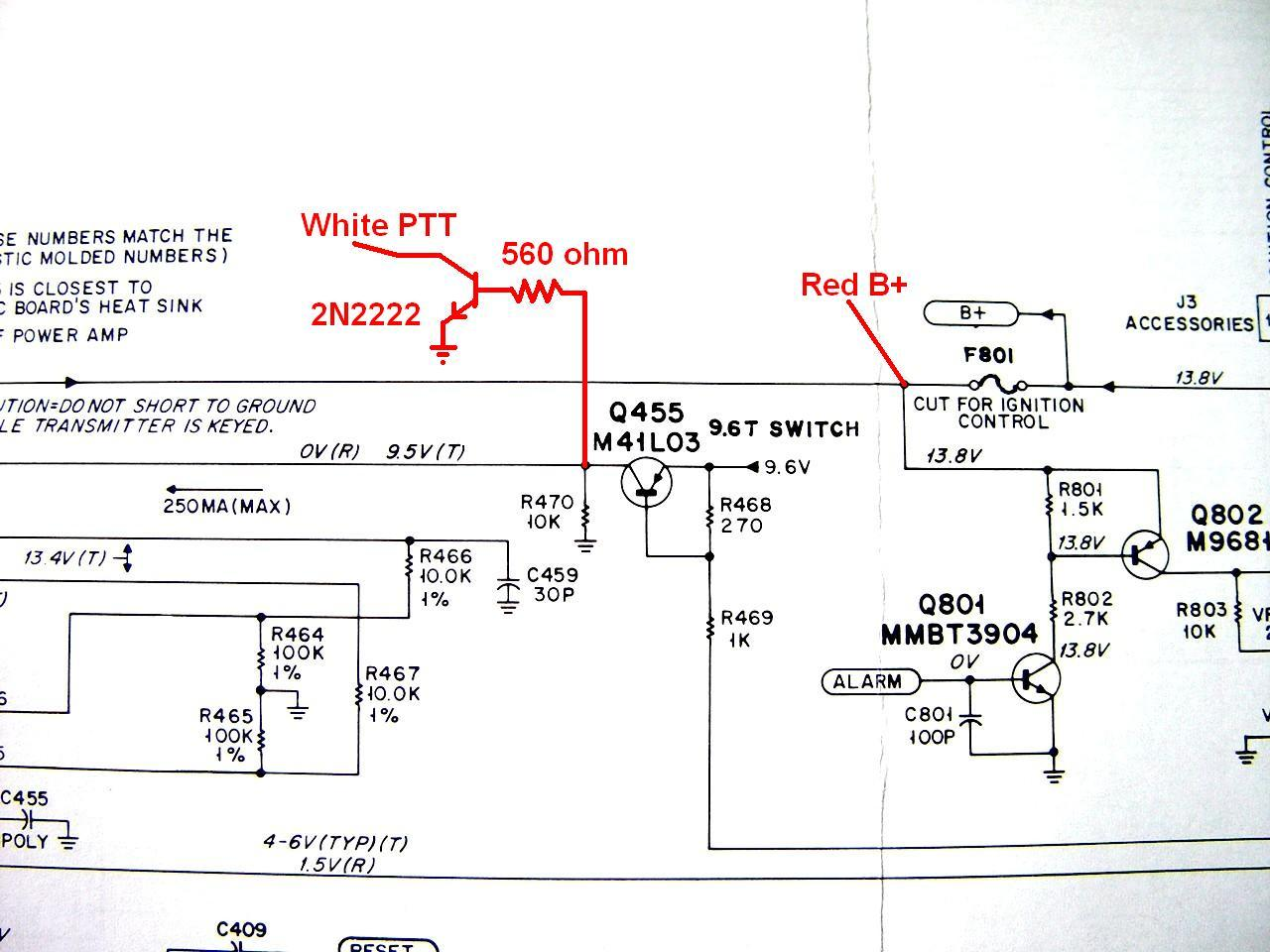 Adding Analog Modulation To A Motorola Nucleus Ii Transmitter Wiring Diagram 96v The Only Available Openings Are Too Small Bring Wires Through I Decided Remove Power Amplifier This Reduces Weight Of Radio And