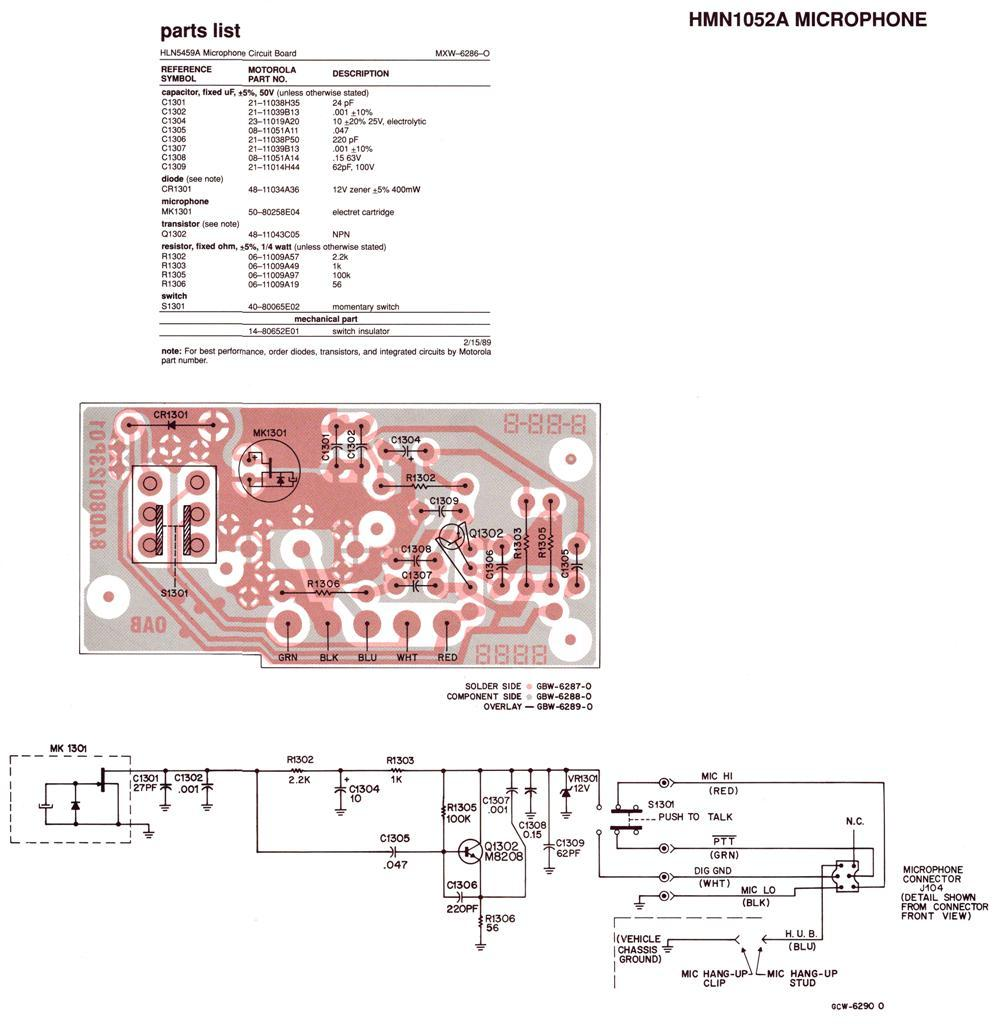 hmn1052a rewire motorola professional mic for cb use? worldwidedx radio forum motorola microphone wiring diagram at fashall.co