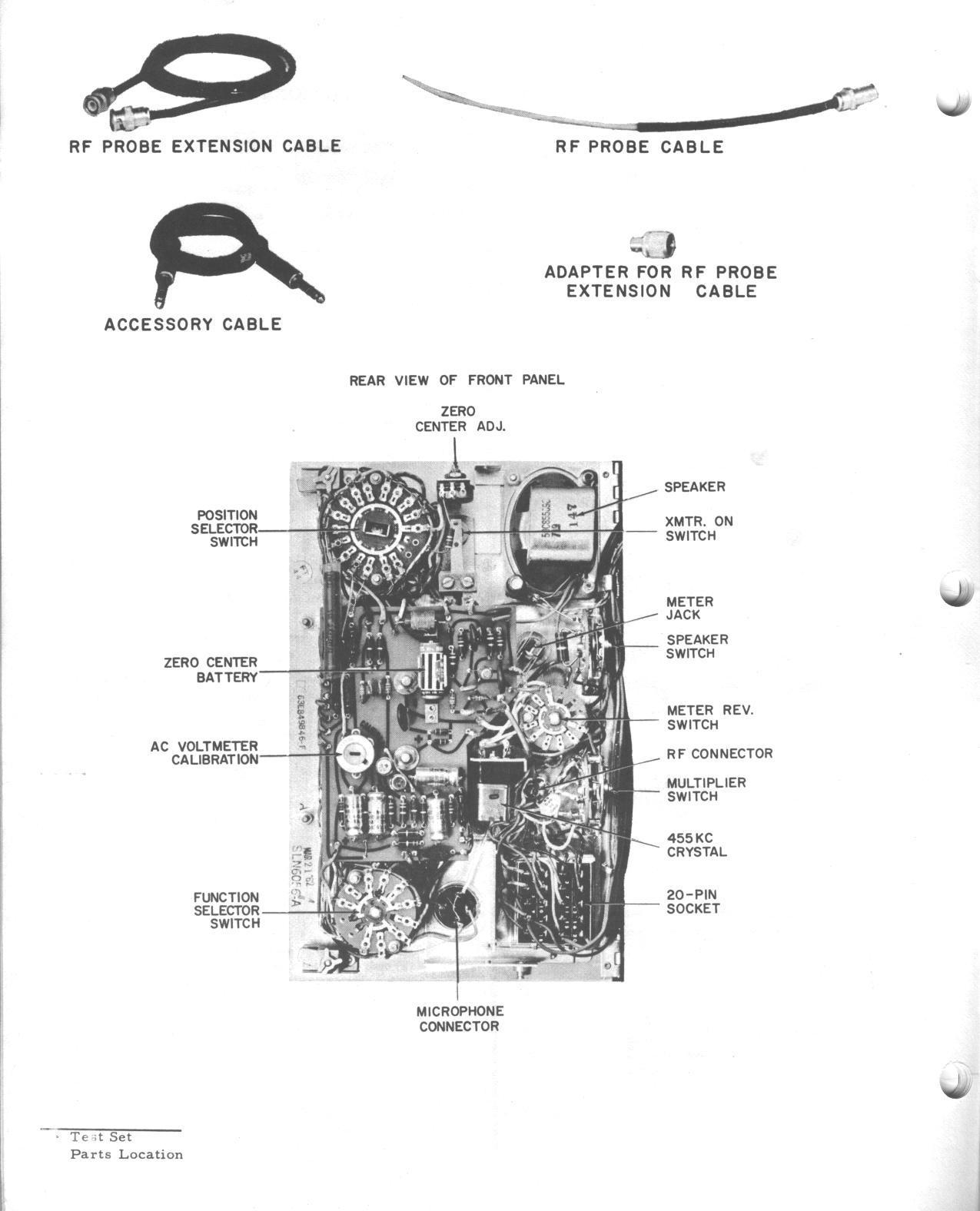 Motorola Test Set Information Index Crystal Tester Diagram A Scan Of Page From The Manual Showing Just Where Infamous N Cell Is Located