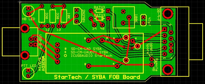 WB2EDV custom printed circuit board - for use with the StarTech or ...