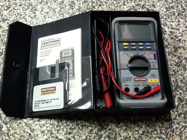craftsman multimeter 82324 manual