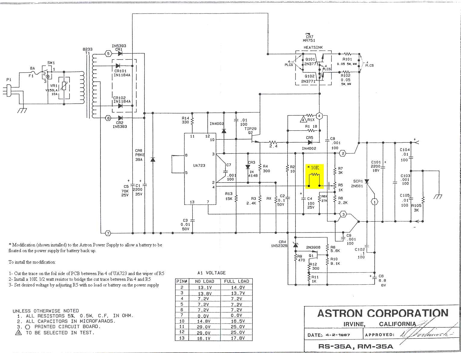 20 Amp Samlex Power Supply Schematic Wire Center 230v Ac Blinking Led Circuit Circuitdiagramorg Astron Index Page Rh Repeater Builder Com Linear Dc