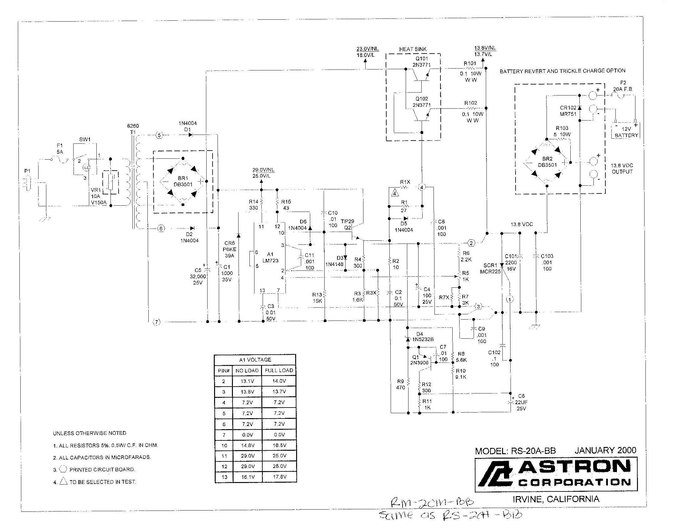 Astron Power Supply Index Page Circuitled Circuit10w Circuit Rs 20a Bb