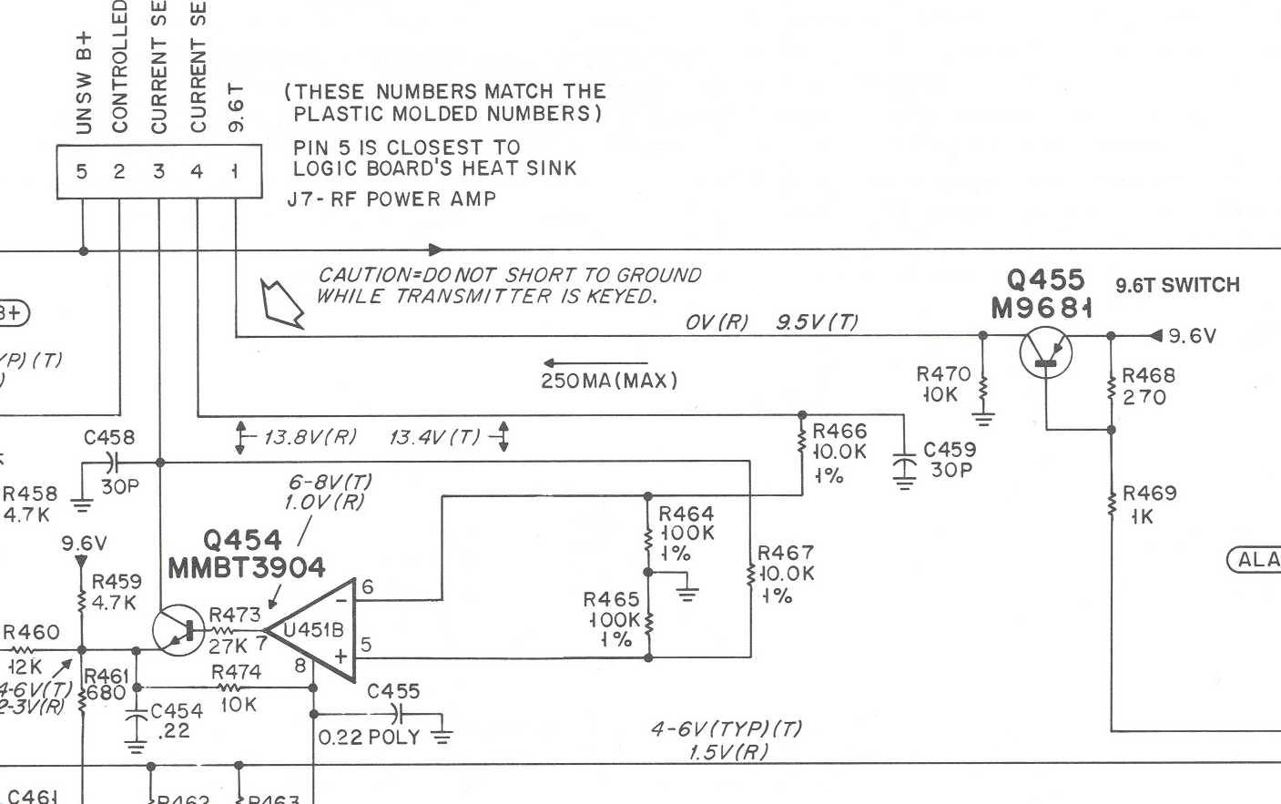 Modifying The Rf Power Control Circuit In Motorola Maxtracs And Radiuses Cm300 Wiring Diagram Image4